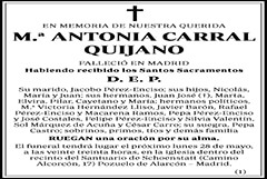 M.ª Antonia Carral Quijano